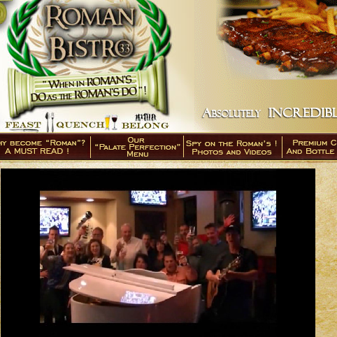 Roman Bistro   Pittsburgh s BEST Bistro   Pittsburgh s BEST NEW RESTAURANT   When In Roman s  Do as the ROMAN S DO